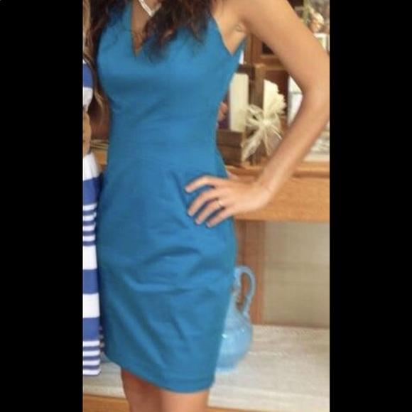 bebe Dresses & Skirts - Bebe blue/turquoise unique elegant dress